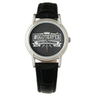 Women's Vintage  Black Leather Strap Watch (Black)