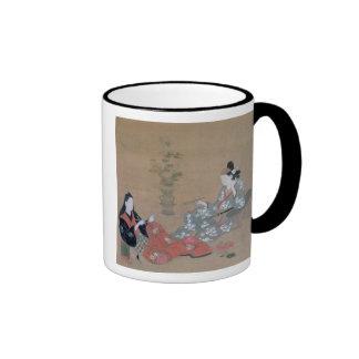 Women Sewing Vintage Japanese Print Mug