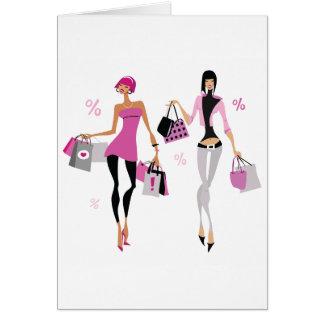 Women Shopping Greeting Cards