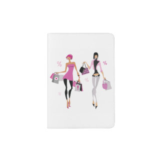 Women Shopping Passport Holder