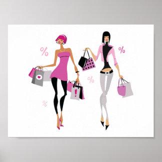 Women Shopping Poster