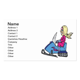 Women Snowmobiling Pack Of Standard Business Cards
