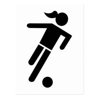Women soccer postcard