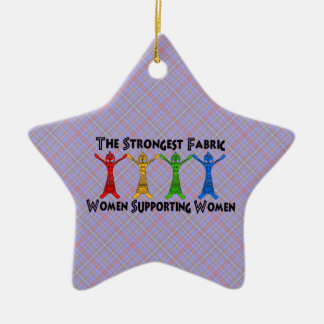 Women Supporting Women Ceramic Star Decoration