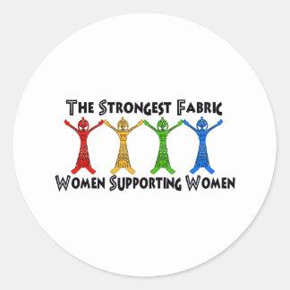 Women Supporting Women Round Sticker