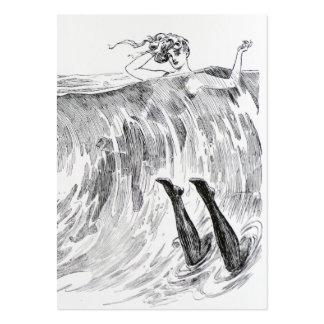Women Swimming In the Sea - Two Sided Pack Of Chubby Business Cards