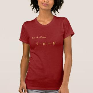 Women T-Shirt Math Slogan