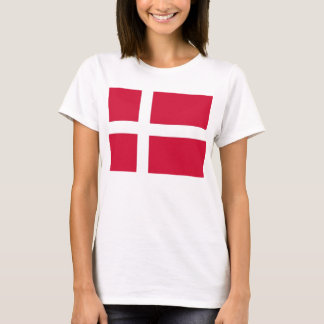 Women T Shirt with Flag of Denmark