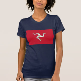 Women T Shirt with Flag of Isle of Man