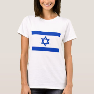 Women T Shirt with Flag of Israel