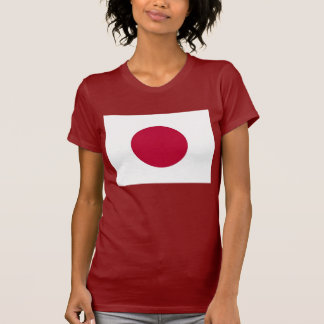 Women T Shirt with Flag of Japan