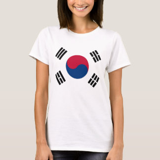 Women T Shirt with Flag of South Korea