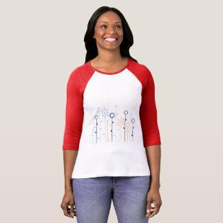Women t-shirt with grass