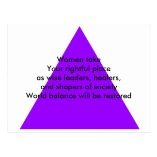 Women take Your rightful place as wise leaders Postcard
