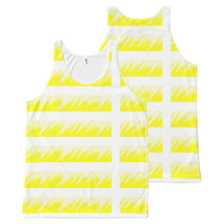 Women Tank Top Yellow White custom