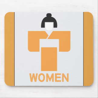 Women toilet, Japanese Sign Mouse Pads
