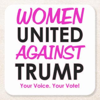 Women United Against Trump Square Paper Coaster