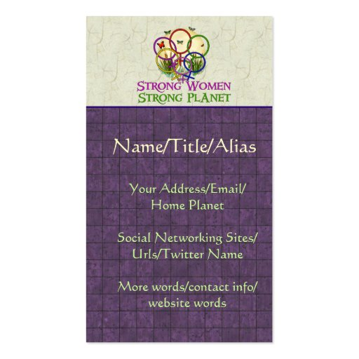 Women United Business Card Templates