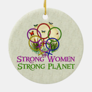 Women United Round Ceramic Decoration