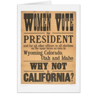 Women Vote Broadside (1873A) Card