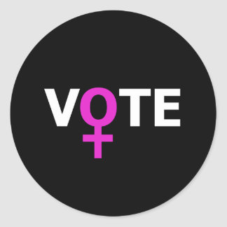 Women Vote Classic Round Sticker
