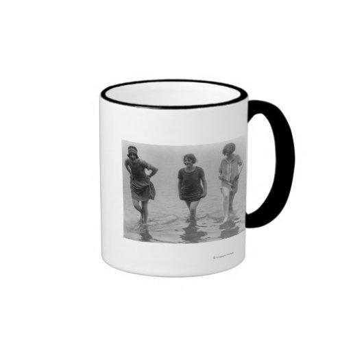 Women Wading at Arlington Beach Photograph Mugs