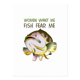 WOMEN WANT FISH FEAR ME POSTCARD