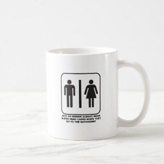 Women Wearing Capes in the Bathroom Funny Mug