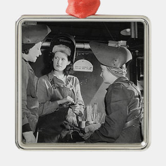 Women Welders Christmas Ornament