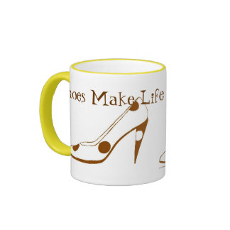 Women Who Love High Heel Shoes Ringer Mug
