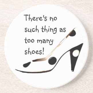 Women Who Love Shoes Sandstone Coaster