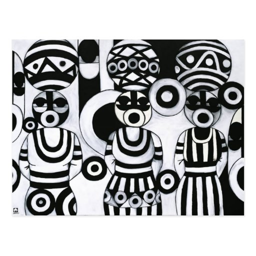 Women with Calabashes by Emeka! Postcards