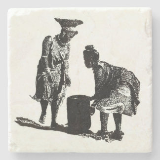 Women with water by Vicci Lee Stone Coaster