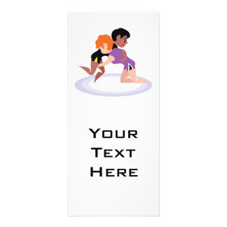 women wrestlers graphic-01 rack card template