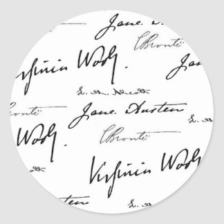 Women Writers Round Sticker