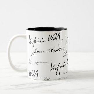 Women Writers Two-Tone Coffee Mug