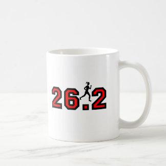women's 26.2 marathon basic white mug