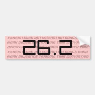 Womens 26.2 or 13.1 marathon bumper sticker