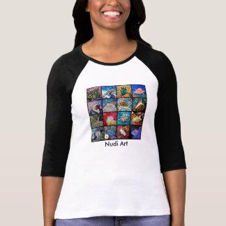 Women's 3/4 Sleeve Raglan T-Shirt- Nudi Art T-Shirt