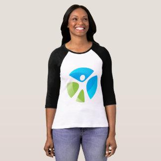 Womens  3/4 Sleeve Reglan T-Shirt - Logo Only
