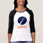 Womens 3/4 Sleeve With Copenhagen Suborbitals Logo Tshirt