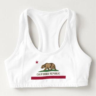 Women's Alo Sports Bra with flag of California