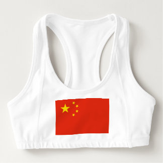 Women's Alo Sports Bra with flag of China
