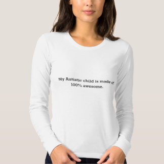 Women's American Apparel l/s t-shirt-- my Autistic Tees