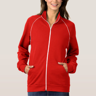 Women's Apparel Fleece Track Jacket Red White