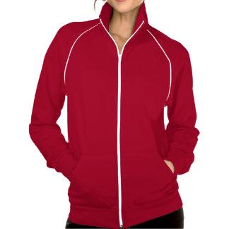 Women's Apparel Fleece Track Jacket Red White