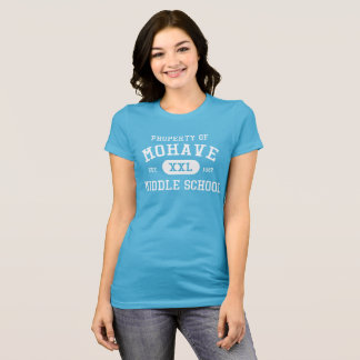 Women's aqua Property of Mohave M.S. t-shirt