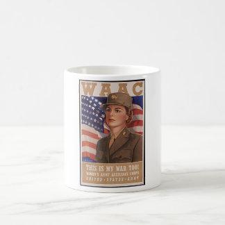 Women's Army Air Corps Classic White Coffee Mug