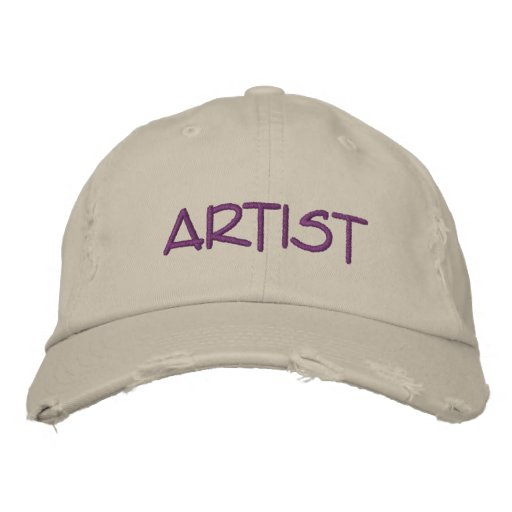 Womens ARTIST Cap Embroidered Hat