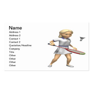 Womens Badminton Pack Of Standard Business Cards